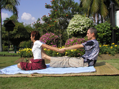 Thai Massage back stretch