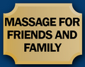 Massage for friends and family logo